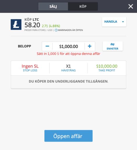 Så här kan du köpa Litecoin.
