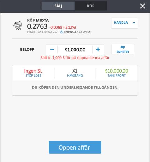 Så här kan du köpa IOTA idag.