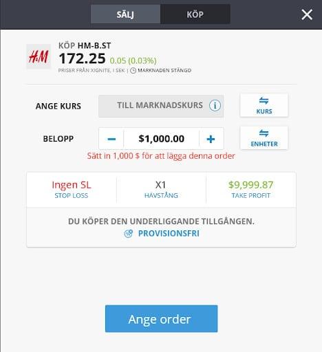 Köp H&M aktie