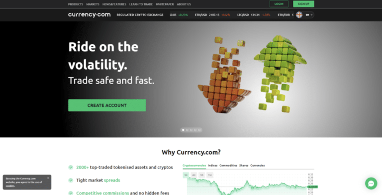 Currency.com Sign up
