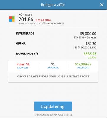 Använd hävstång när du köper Microsoft aktie