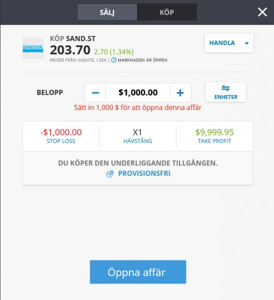 Köp Sandvik aktie